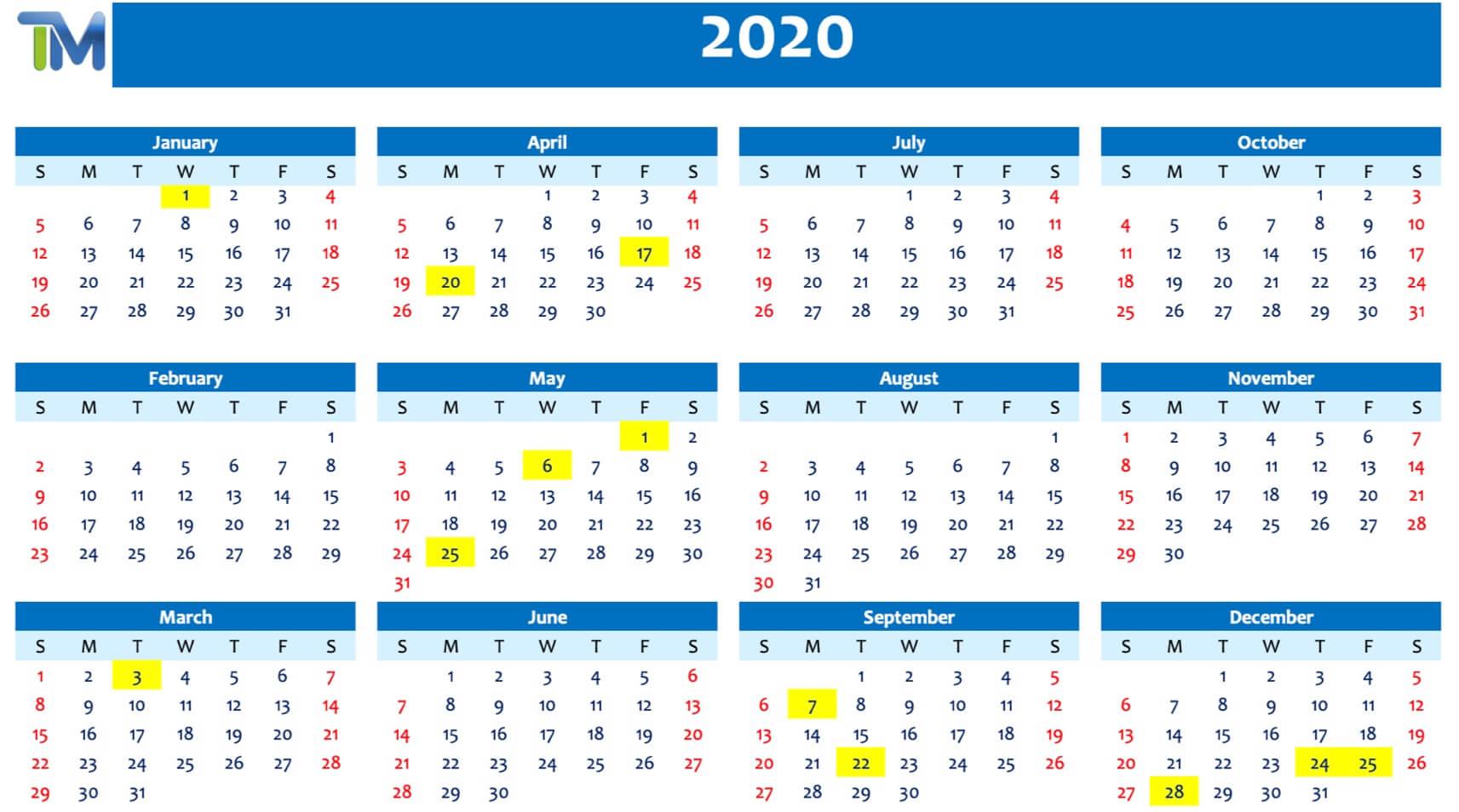 Αργίες Βουλγαρίας 2020